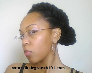 Nautral Hair Styles- Jumbo Twist Bun