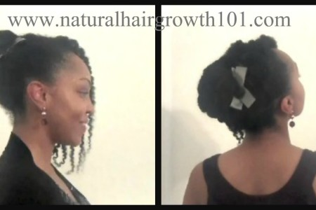 Natural Hair Styles Formal Updo