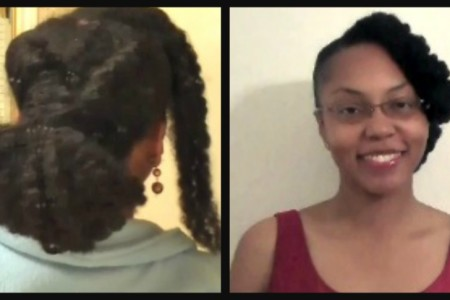 Natural Hair Styles Simple Bun Updo
