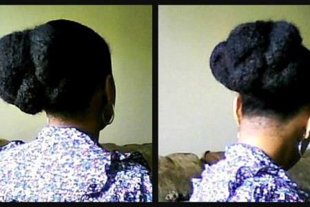 Natural Hair Styles Fat Twist Bun