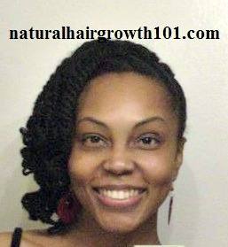 Natural Hair Styles -Two Strand Twist Side Updo
