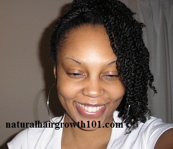 Natural Hair Styles- Large twists pinned to the side