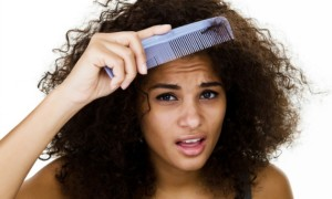 combing curly hair