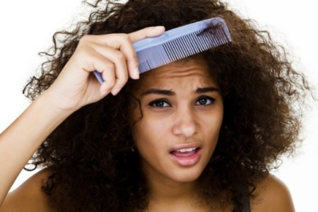 Combing and detangling natural hair